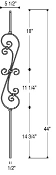 Wrought Iron Balusters - Balusters2go