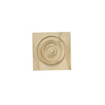 Small Architectural Rosette 2 1-2 in x 2 1-2 in
